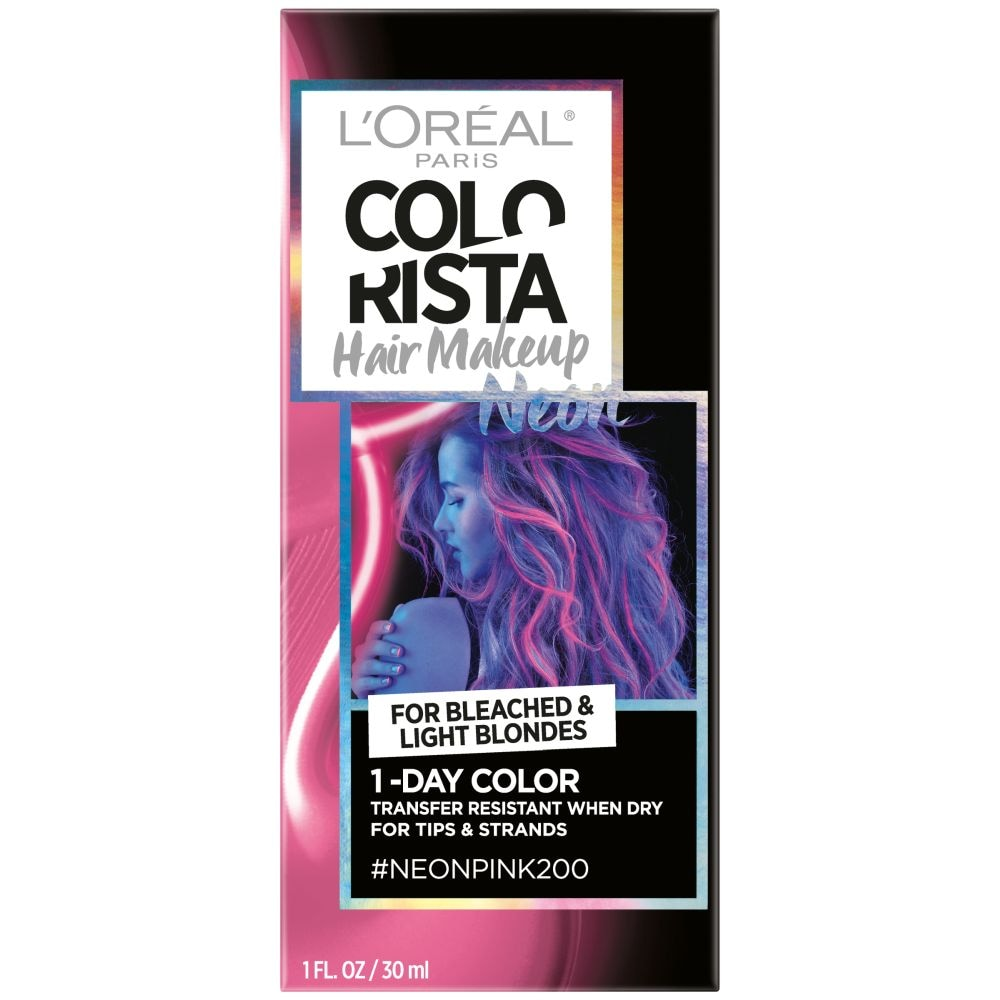 WHOLESALE LOREAL COLORISTA HAIR MAKEUP 1-DAY HAIR COLOR - NEON PINK 200 - 48 PIECE LOT