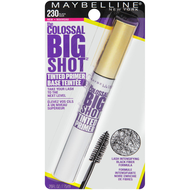 WHOLESALE MAYBELLINE THE COLOSSAL BIG SHOT TINTED PRIMER - BLACK 230 - 72 PIECE LOT