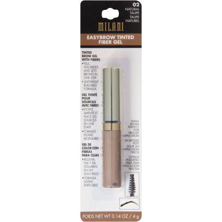 WHOLESALE MILANI EASYBROW TINTED FIBER GEL - NATURAL TAUPE 02 - 48 PIECE LOT