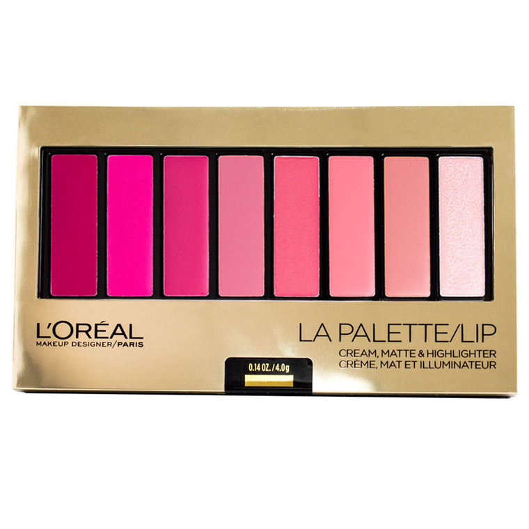 WHOLESALE LOREAL COSMETICS LA PALETTE LIP - PINK - 48 PIECE LOT