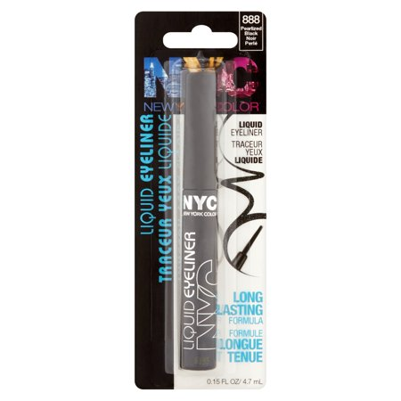 WHOLESALE N.Y.C. NYC NEW YORK COLOR LIQUID EYELINER - PEARLIZED BLACK - 48 PIECE LOT