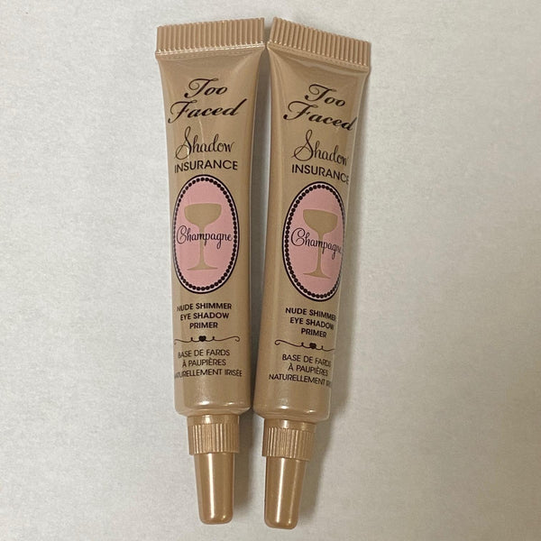 WHOLESALE TOO FACED SHADOW INSURANCE CHAMPAGNE MINI SIZE 5g / 0.17 OZ (PACK OF 2) - 50 PIECE LOT