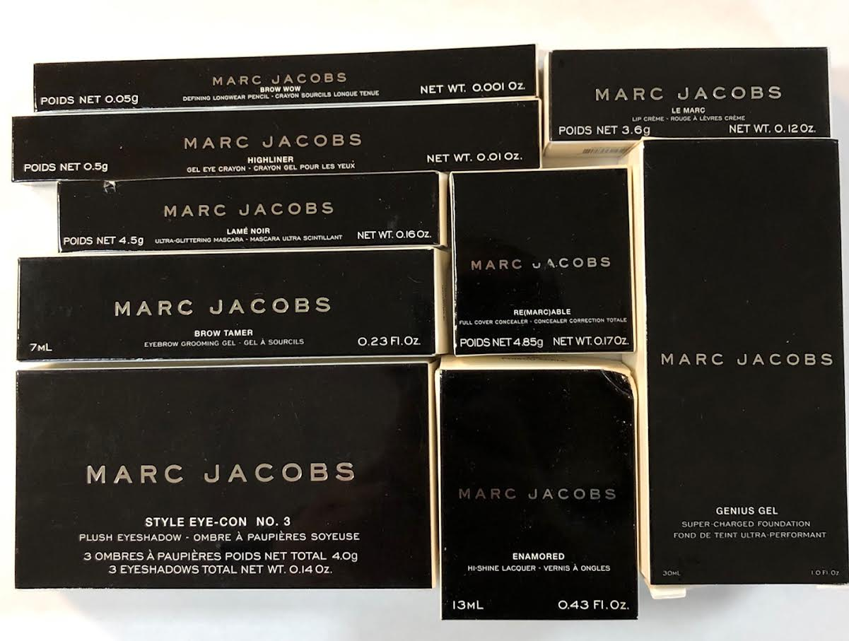 WHOLESALE ASSORTED MARC JACOBS COSMETICS LOT BOXED - ASSORTED - 50 PIECE LOT