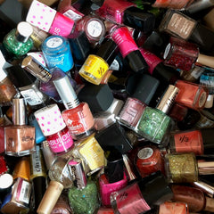 WHOLESALE ASSORTED BRAND NAME NAIL POLISH LOT - 100 PIECE LOT