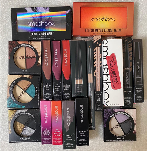 WHOLESALE ASSORTED SMASHBOX COSMETICS LOT BOXED - ASSORTED - 50 PIECE LOT