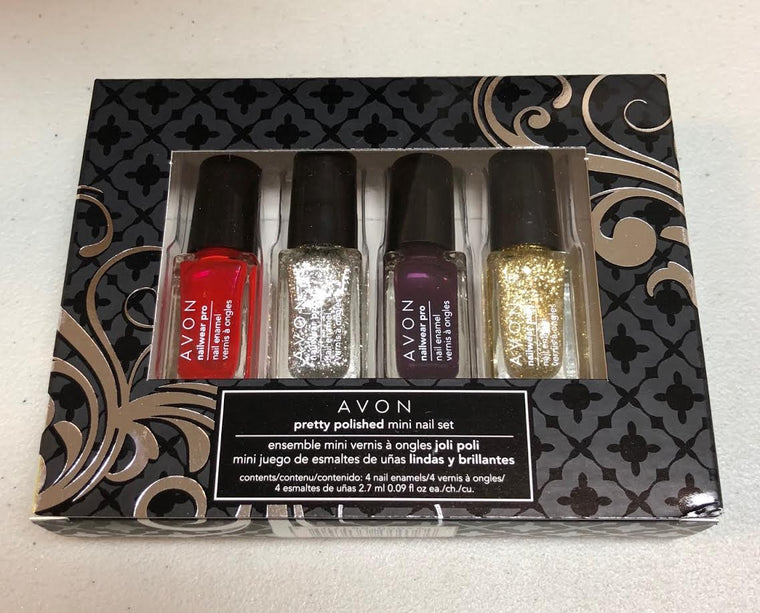 WHOLESALE AVON PRETTY POLISHED MINI NAIL SET - 36 PIECE LOT