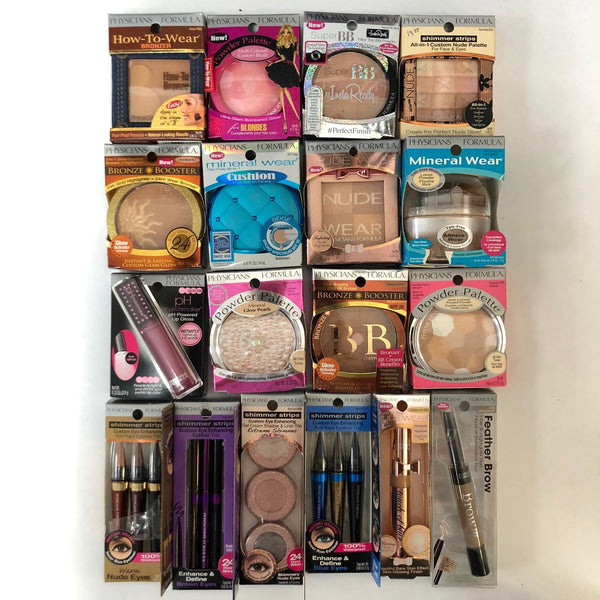 WHOLESALE ASSORTED PHYSICIANS FORMULA COSMETICS LOT - 50 PIECE LOT