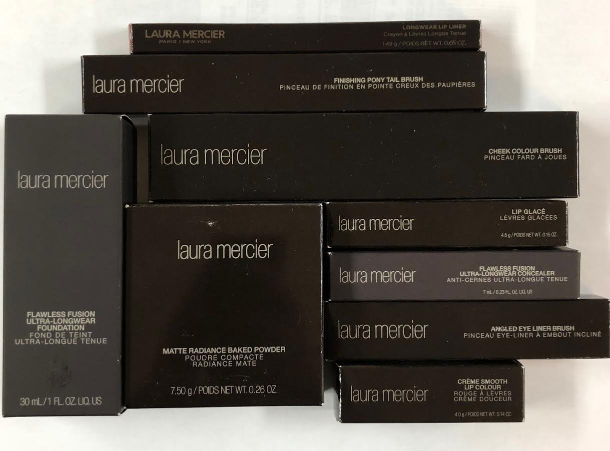 WHOLESALE ASSORTED LAURA MERCIER COSMETICS LOT BOXED - ASSORTED - 50 PIECE LOT