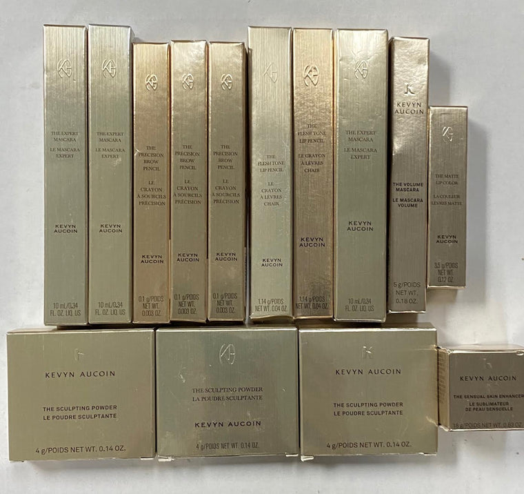 WHOLESALE ASSORTED KEVYN AUCOIN COSMETICS LOT BOXED - ASSORTED - 50 PIECE LOT