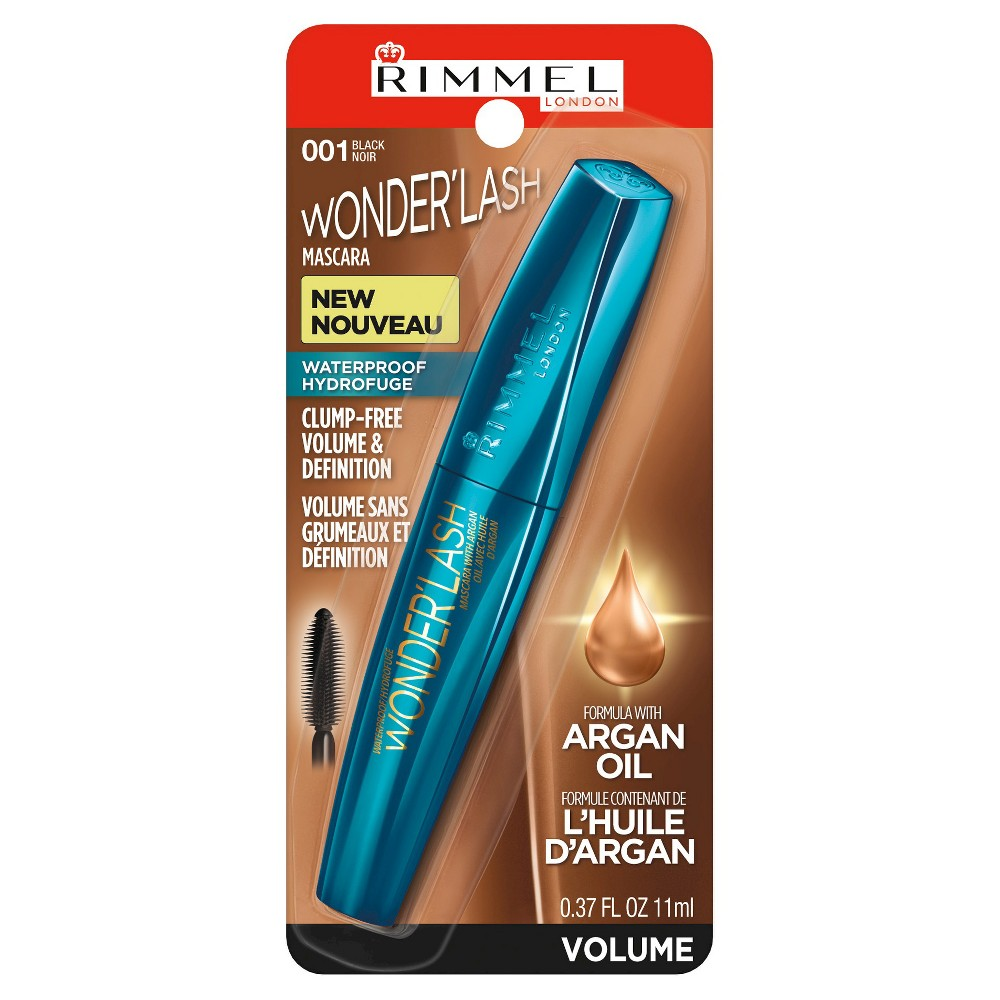WHOLESALE RIMMEL WONDERLASH WATERPROOF MASCARA - BLACK 001 - 48 PIECE LOT
