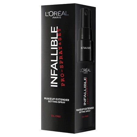 WHOLESALE LOREAL INFALLIBLE PRO SPRAY & SET MAKEUP EXTENDER SETTING SPRAY 1 OZ. BOXED - 48 PIECE LOT