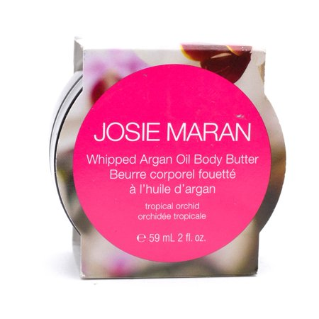 WHOLESALE JOSIE MARAN WHIPPED ARGAN OIL BODY BUTTER 2 OZ - TROPICAL ORCHID - 50 PIECE LOT