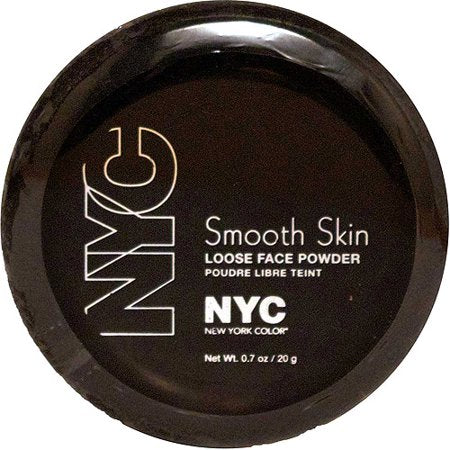 WHOLESALE N.Y.C. NEW YORK COLOR SMOOTH SKIN LOOSE FACE POWDER - NATURALLY BEIGE 742A - 72 PIECE LOT