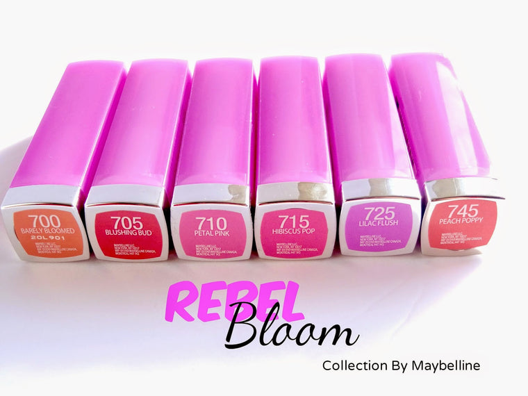 WHOLESALE ASSORTED MAYBELLINE COLORSENSATIONAL REBEL BLOOM LIPSTICK - 100 PIECE LOT