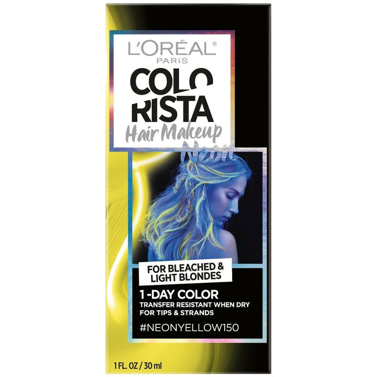 WHOLESALE LOREAL COLORISTA HAIR MAKEUP 1-DAY HAIR COLOR - NEON YELLOW 150 - 48 PIECE LOT