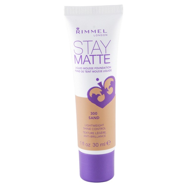 WHOLESALE RIMMEL STAY MATTE LIQUID MOUSSE FOUNDATION - SAND 300 - 48 PIECE LOT