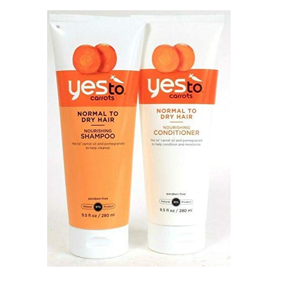 WHOLESALE YES TO CARROTS NORMAL TO DRY HAIR NOURISHING SHAMPOO & CONDITIONER SET 9.5 OZ. EACH - 48 PIECE LOT