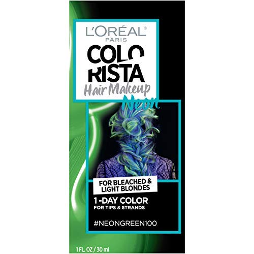 WHOLESALE LOREAL COLORISTA HAIR MAKEUP 1-DAY HAIR COLOR - NEON GREEN 100 - 48 PIECE LOT