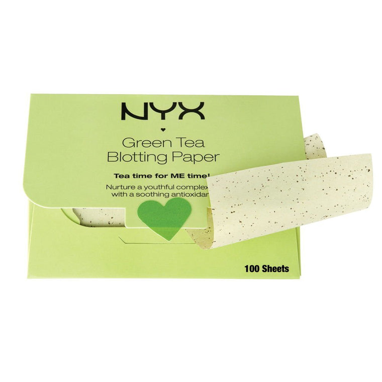 WHOLESALE NYX GREEN TEA BLOTTING PAPER  - GREEN TEA - 72 PIECE LOT