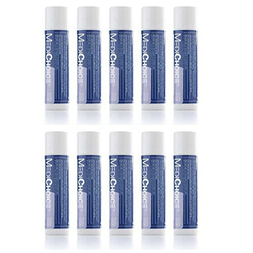 WHOLESALE MEDICHOICE LIP BALM WITH SPF 15 (PACK OF 10) - 50 PIECE LOT