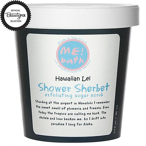 WHOLESALE ME! BATH SHOWER SHERBET 16 OZ - HAWAIIAN LEI - 48 PIECE LOT