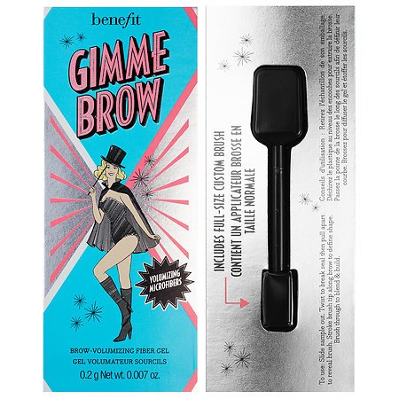WHOLESALE BENEFIT GIMME BROW - BROW VOLUMIZING FIBER GEL #3 - SAMPLE SIZE 0.007 OZ. - 50 PIECE LOT