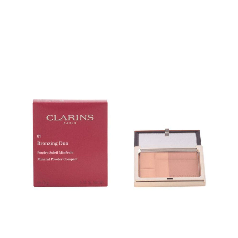 WHOLESALE CLARINS BRONZING DUO MINERAL POWDER COMPACT - LIGHT 01 - 50 PIECE LOT