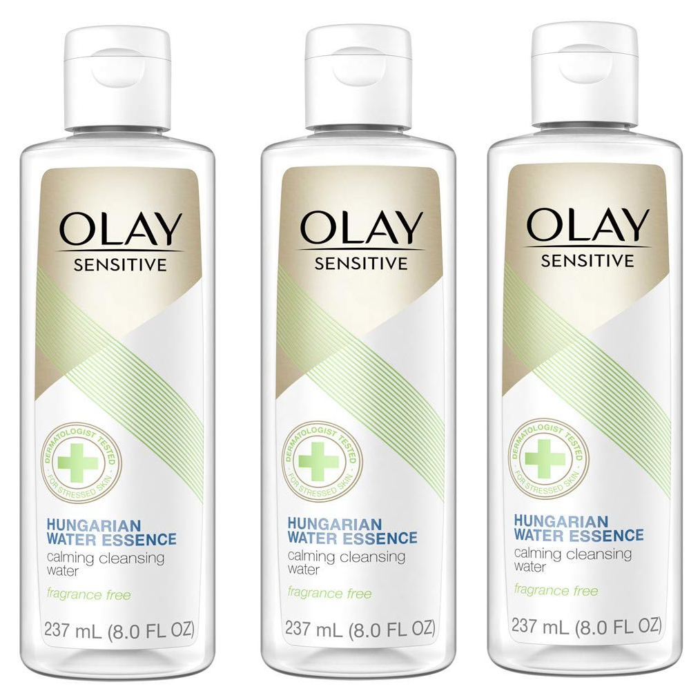 WHOLESALE OLAY SENSITIVE HUNGARIAN WATER ESSENCE CALMING CLEANSING WATER 8 OZ (3 PACK) - 48 PIECE LOT