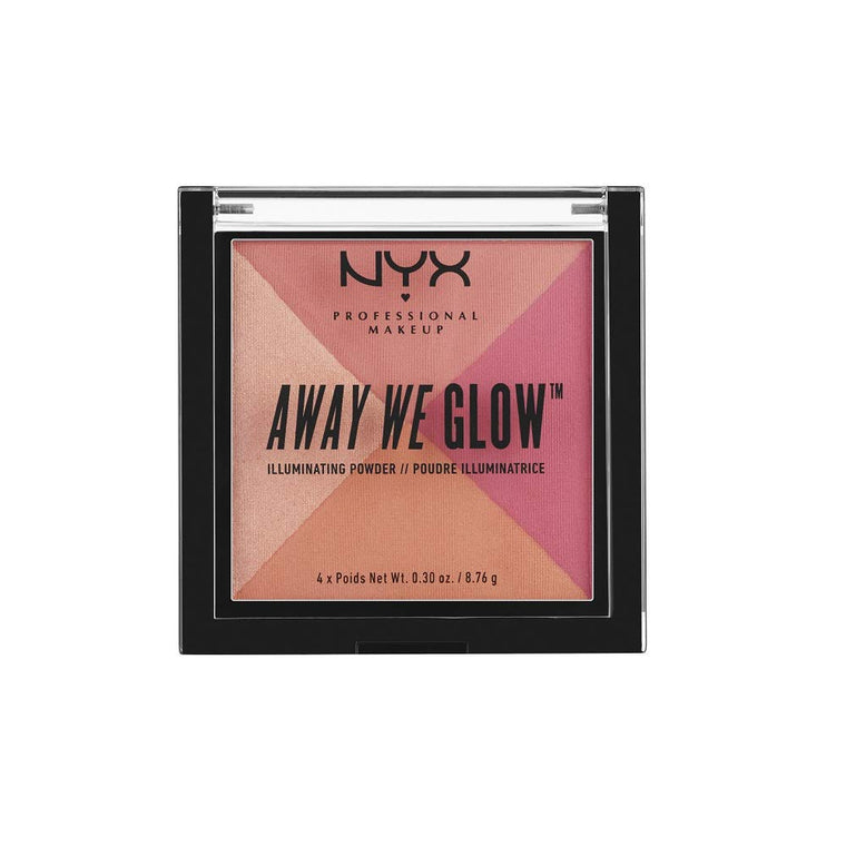 WHOLESALE NYX AWAY WE GLOW ILLUMINATING POWDER  - CRUSHED ROSE - 48 PIECE LOT