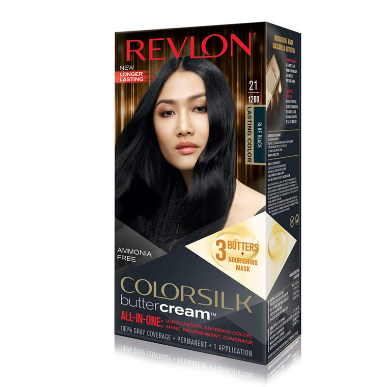 WHOLESALE REVLON LUXURIOUS COLORSILK BUTTERCREAM HAIR COLOR - BLUE BLACK 12BB   - 48 PIECE LOT