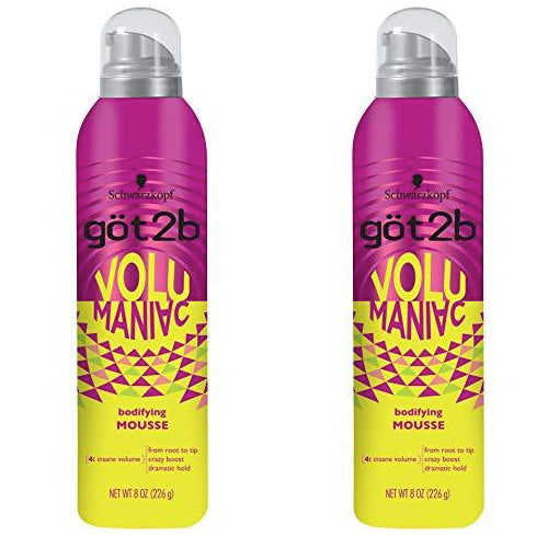 WHOLESALE Schwarzkopf GOT2B VOLUMANIAC BODIFYING MOUSSE 8 OZ (PACK OF 2) - 24 PIECE LOT