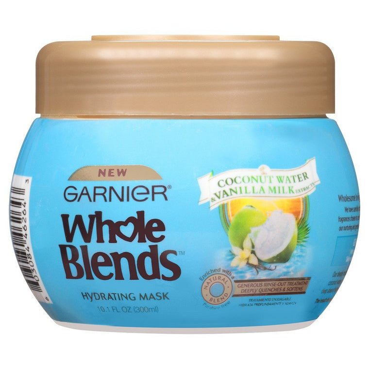 WHOLESALE GARNIER WHOLE BLENDS HYDRATING MASK WITH COCONUT WATER & VANILLA MILK 10.1 OZ - 48 PIECE LOT