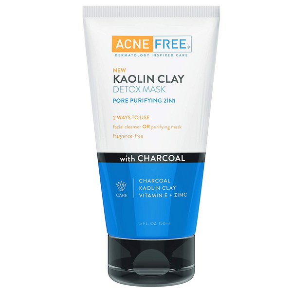 WHOLESALE ACNE FREE KAOLIN CLAY DETOX MASK 5 OZ - 48 PIECE LOT