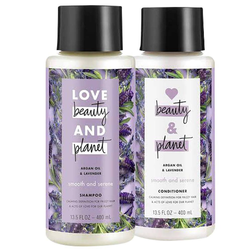 WHOLESALE LOVE BEAUTY AND PLANET ARGAN OIL & LAVENDER SHAMPOO & CONDITIONER SET 13.5 OZ EACH - 48 PIECE LOT