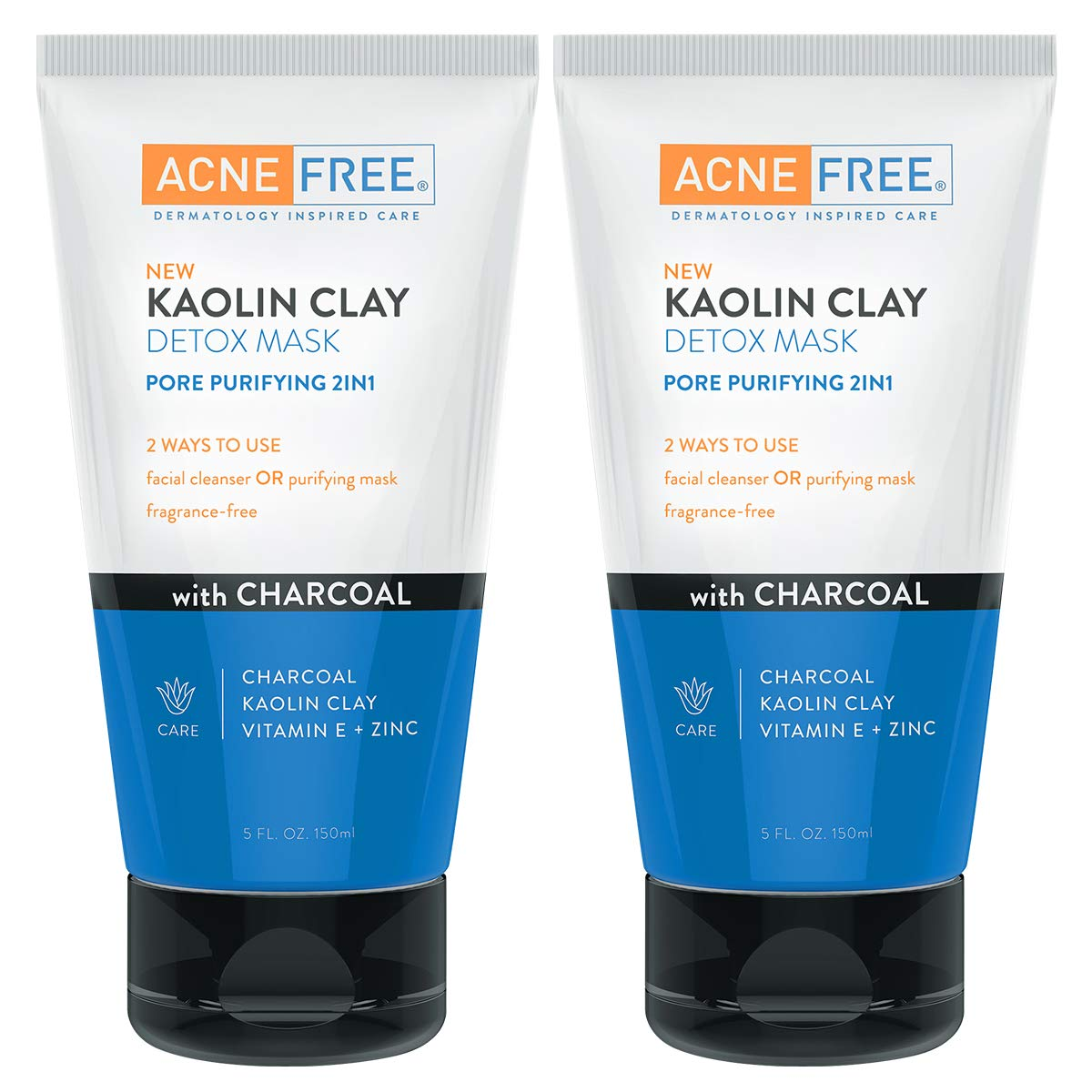 WHOLESALE ACNE FREE KAOLIN CLAY DETOX MASK 5 OZ (PACK OF 2) - 48 PIECE LOT