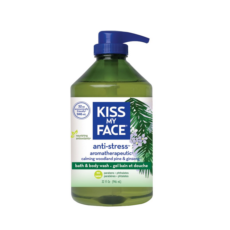 WHOLESALE KISS MY FACE ANTI-STRESS BATH & BODY WASH 32 OZ - 48 PIECE LOT