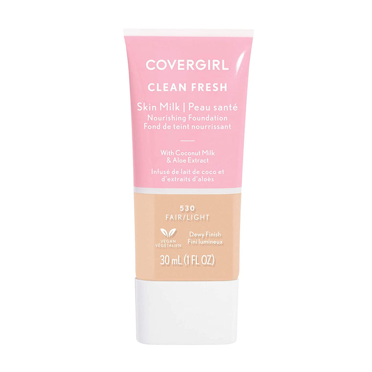 WHOLESALE COVERGIRL CLEAN FRESH SKIN MILK NOURISHING FOUNDATION 1 OZ - FAIR/LIGHT 530 - 72 PIECE LOT