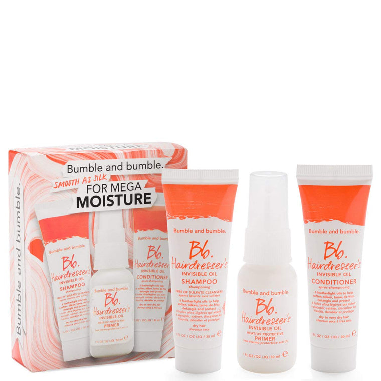 WHOLESALE BUMBLE AND BUMBLE BB HAIRDRESSER'S SMOOTH AS SILK FOR MEGA MOISTURE SET - 14 PIECE LOT