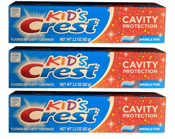 WHOLESALE CREST KID'S CAVITY PROTECTION TOOTHPASTE 2.2 OZ (PACK OF 3) - 48 PIECE LOT