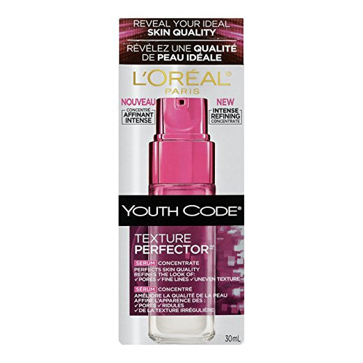 WHOLESALE LOREAL YOUTH CODE TEXTURE PERFECTOR SERUM CONCENTRATE 1 OZ - 48 PIECE LOT