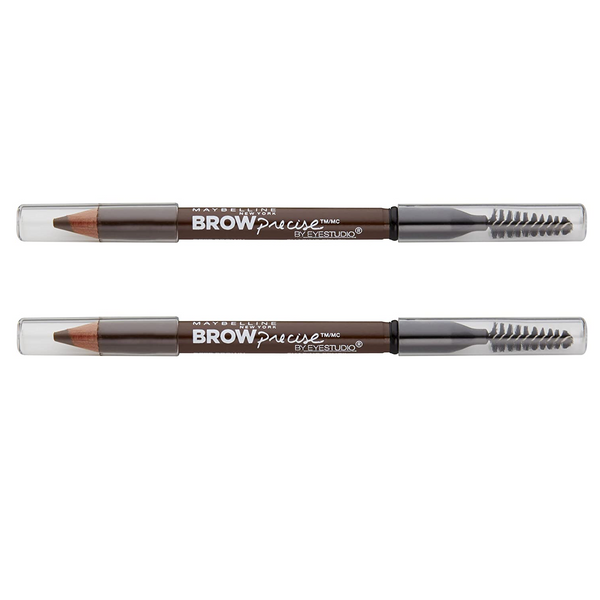 WHOLESALE MAYBELLINE BROW PRECISE SHAPING EYEBROW PENCIL (PACK OF 2) - SOFT BROWN 255 - 48 PIECE LOT