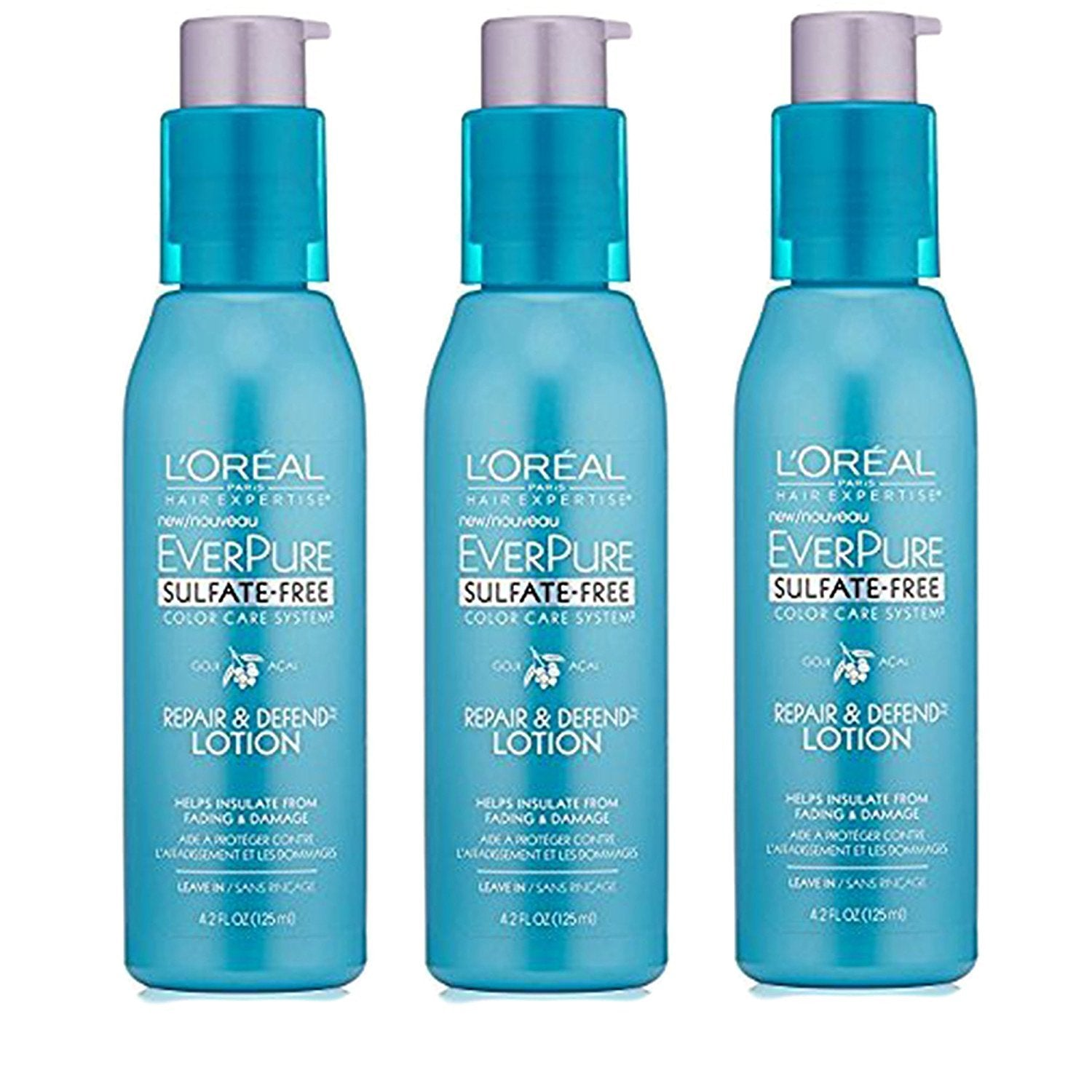 WHOLESALE LOREAL EVERPURE REPAIR & DEFEND LOTION FOR HAIR 4.2 OZ (3 PACK) - 48 PIECE LOT