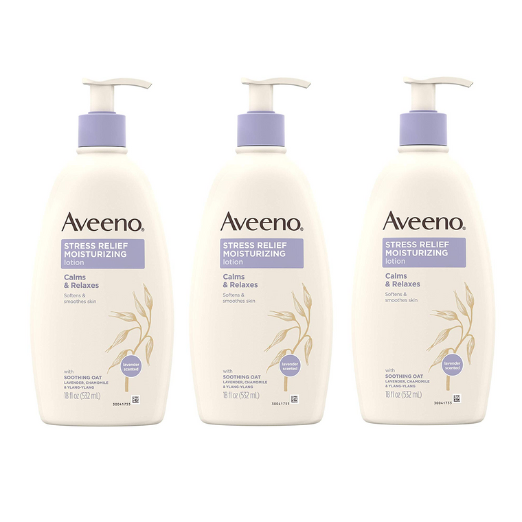 WHOLESALE AVEENO STRESS RELIEF BODY LOTION 18 OZ (PACK OF 3) - 48 PIECE LOT