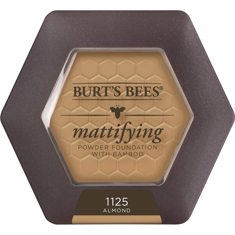 WHOLESALE BURT'S BEES MATTIFYING POWDER FOUNDATION WITH BAMBOO 0.3 OZ - ALMOND 1125 - 48 PIECE LOT