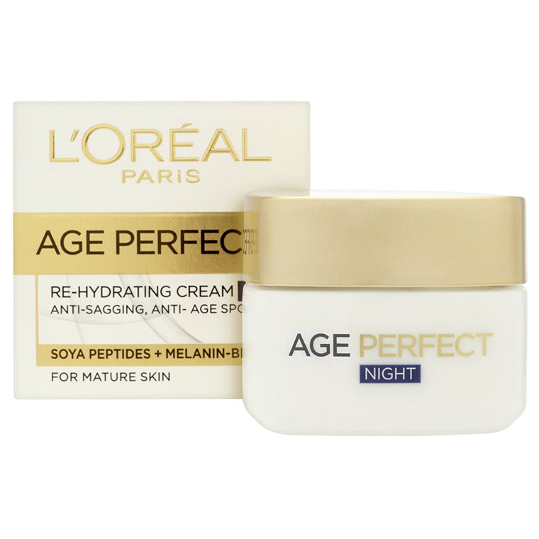 WHOLESALE LOREAL AGE PERFECT RE-HYDRATING NIGHT CREAM 1.7 OZ 50ml - 48 PIECE LOT
