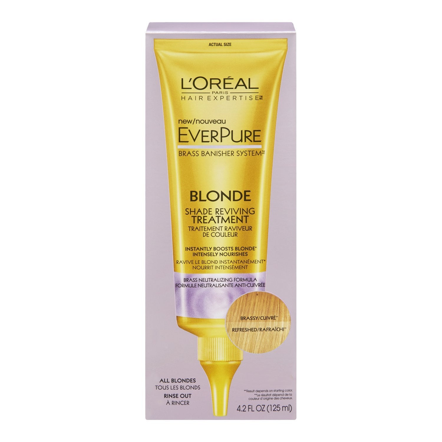 WHOLESALE LOREAL EVERPURE BLONDE SHADE REVIVING TREATMENT 4.2 OZ.  - 48 PIECE LOT