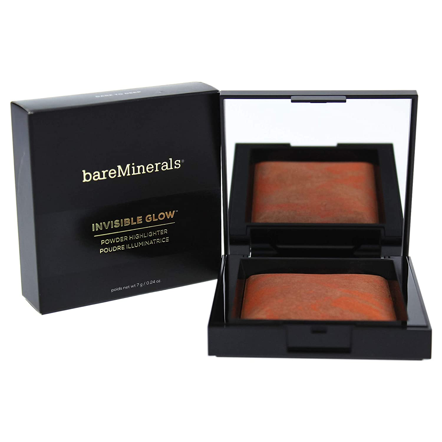 WHOLESALE BAREMINERALS INVISIBLE GLOW POWDER HIGHLIGHTER 0.24 OZ - DARK TO DEEP - 45 PIECE LOT