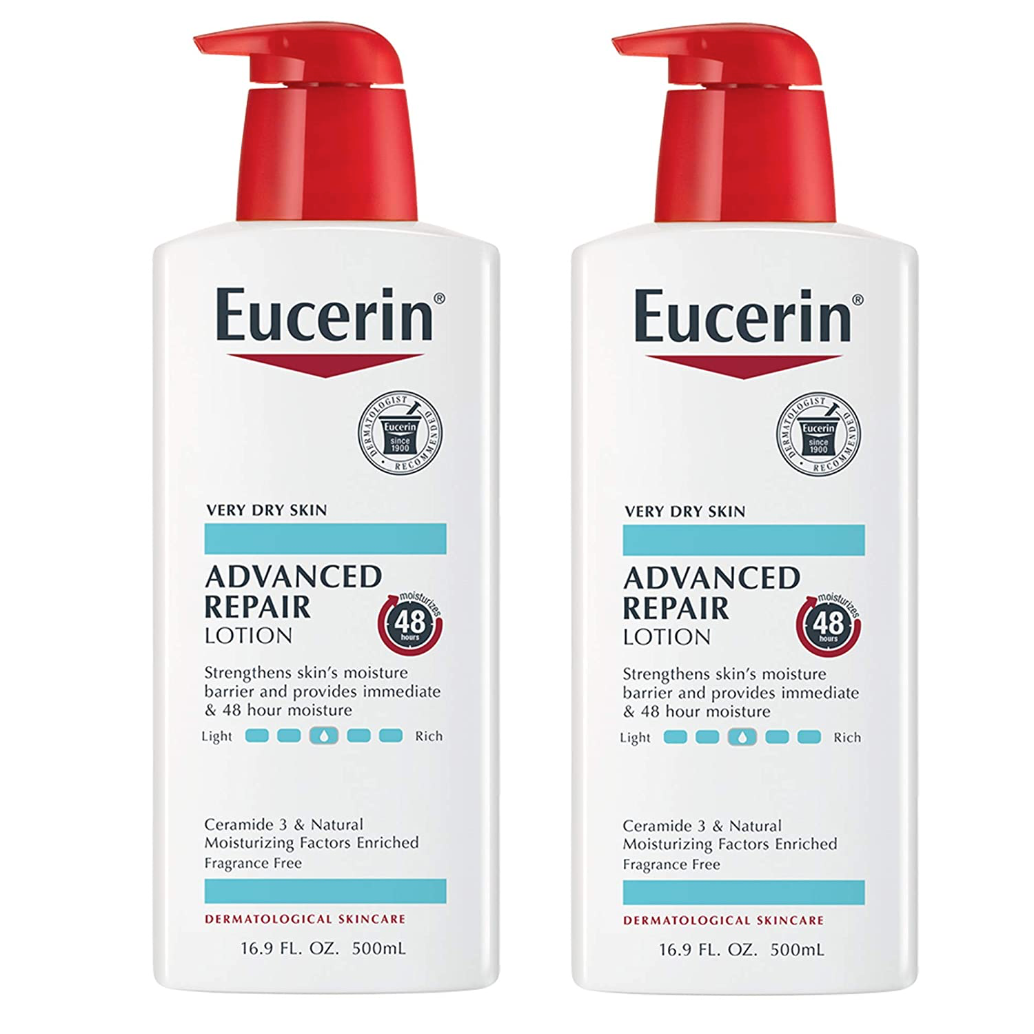 WHOLESALE EUCERIN ADVANCED REPAIR LOTION 16.9 OZ (PACK OF 2) - 48 PIECE LOT