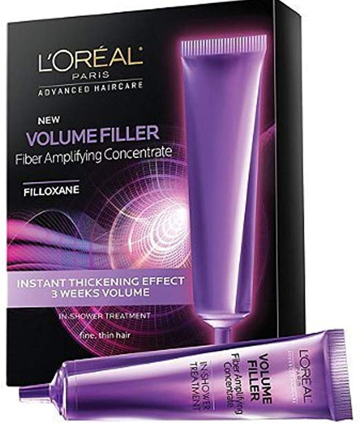 WHOLESALE LOreal Advanced Haircare Volume Filler Fiber Amplifying Concentrate Ampoules 0.5 oz, 3ea (Pack of 4) - 48 PIECE LOT