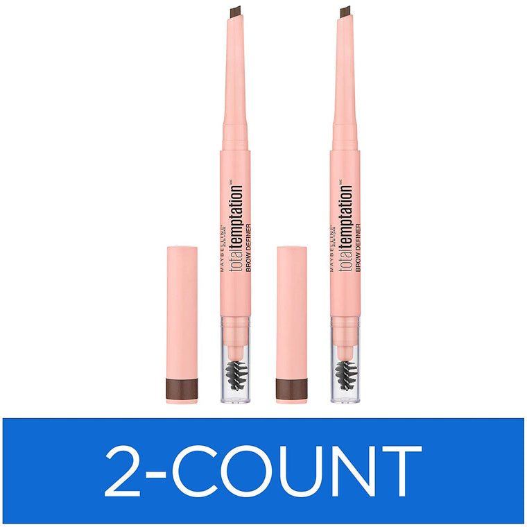 WHOLESALE MAYBELLINE TOTAL TEMPTATION BROW DEFINER (2 PACK) - MEDIUM BROWN 310 - 48 PIECE LOT